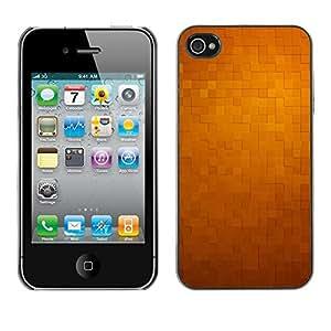 TopCaseStore / la caja del caucho duro de la cubierta de protección de la piel - 3D Pattern Checkered Yellow Tiles - Apple iPhone 4 / 4S