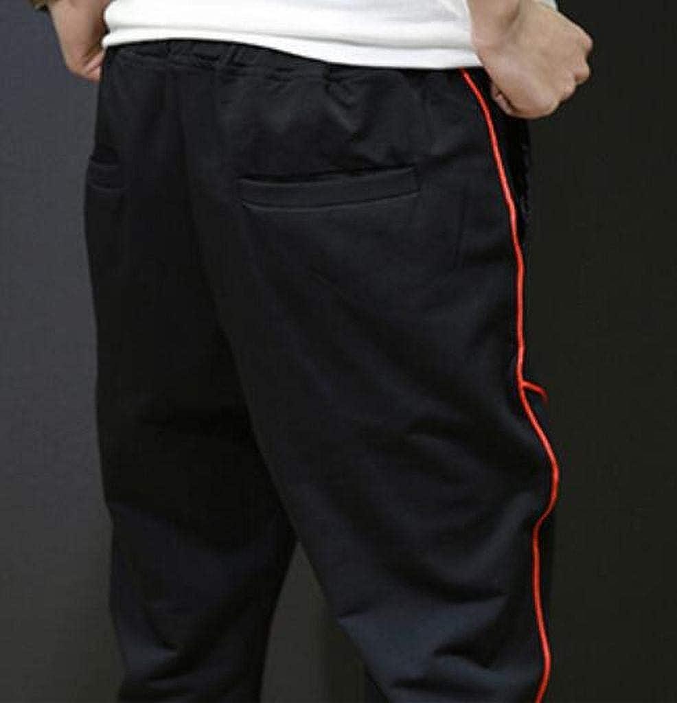 DFBB Men Ankle Letter Printing Elastic Waist Drawstring Jogging Pants Active Casual Pants