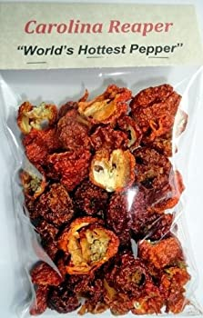 Dried Carolina Reaper Peppers (Value Sized - 1oz Bag) - Free First Class Shipping in the USA