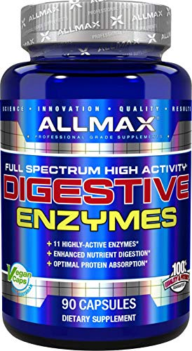ALLMAX Nutrition Digestive Enzymes + Protein Optimizer, 90 - Capsules Enzymes 90 Digestive