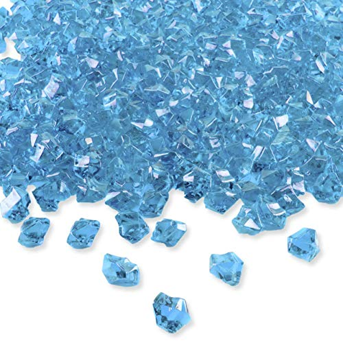 Mikash Acrylic Color Ice Rock Crystals Treasure Gems for Table Scatters, Vase Fillers, Event, Wedding, Birthday Tion Favor, Arts & Crafts (385 Pieces) (Blue) | 1