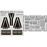 EDU32846 1:32 Eduard Color PE - Mosquito Mk.VI Seatbelts [Fabric] (for use with the Tamiya model kit) [MODEL KIT ACCESSORY] by Eduard