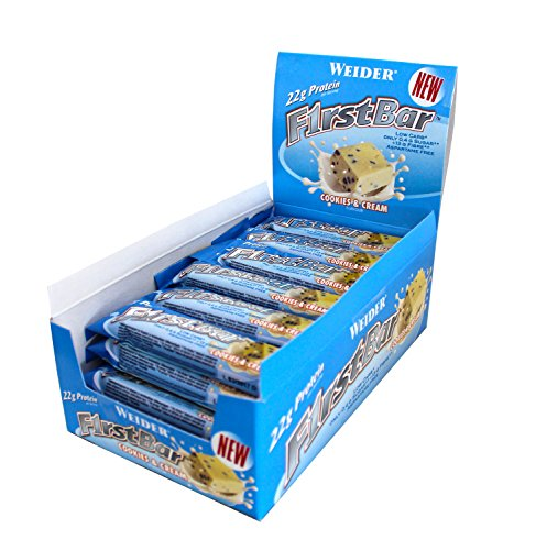 Weider First Bar, Cookies & Cream, 24 x 60g, 1er Pack, 1,44kg