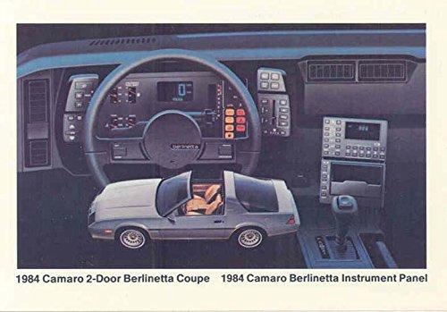 1984 Chevrolet Camaro 2-Door Berlinetta Coupe ORIGINAL Factory Postcard