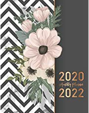 2020-2022 Monthly Planner: Elegant Marble Flower Cover   2020-2022 Three Year Planer with Holidays   Agenda Yearly Goals Monthly Calendar 36 Months   Academic Schedule Organizer Logbook and Journal Notebook   Personal Appointment Book