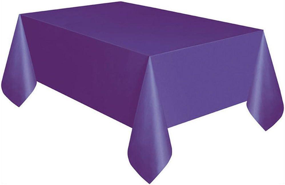 Bleu Parfait pour des f/êtes danniversaire Halloween Waniba/® jetables Housses de Table rectangulaire Nappe de Couleur Unie etc. f/êtes pr/énatales et de la mari/ée