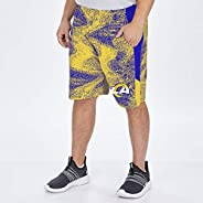 Zubaz Mens Poly Short with Side Panels