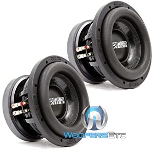 "Pair of Sundown Audio SD-2 8 D2 8"" Subs Dual 2 Ohm Shallow Bass Subwoofers"