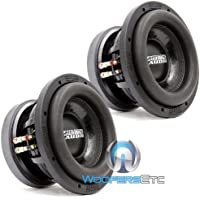 Pair of Sundown Audio SD-2 8 D2 8 Subs Dual 2 Ohm Shallow Bass Subwoofers