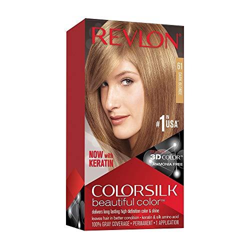 🥇 Revlon ColorSilk Tinte de Cabello Permanente Tono #61 Rubio Oscuro