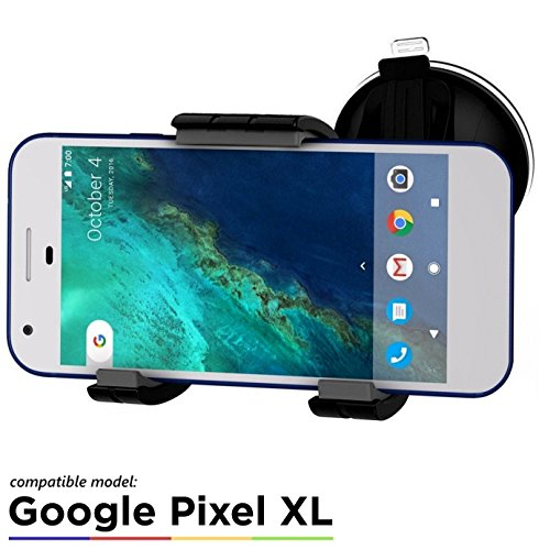 Google Pixel XL Easy-dock Car Mount Holder [Windshield/Dashboard Cradle] New 2016 Version by Encased