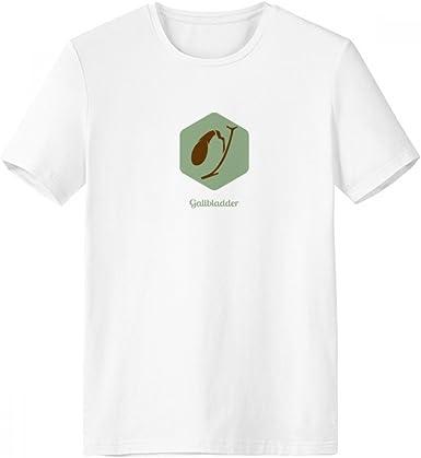 DIYthinker Los órganos del cuerpo de la vesícula biliar con cuello redondo de la camiseta blanca de manga corta Comfort Deportes camisetas de regalos - Multi - S: Amazon.es: Ropa y accesorios