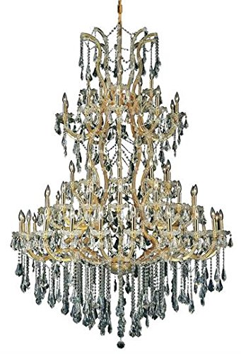 Karla Gold Traditional 61-Light Grand Chandelier Heirloom Handcut Crystal in Crystal (Clear)-2381G54G-RC--30
