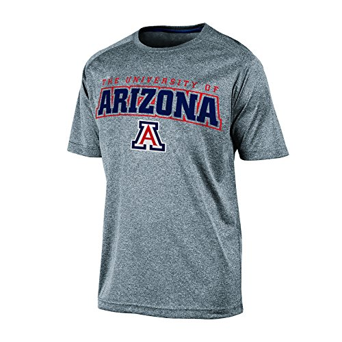 NCAA Arizona Wildcats Men's Impact Heather Jersey T-Shirt, X-Large, Gray Heather