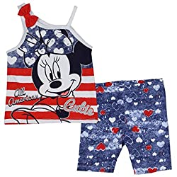 Baby Minnie Mouse All-American Cutie 3-6M - Shorts and Tank Top