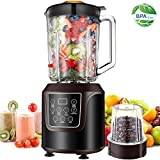 Blender, AAOBOSI Smoothie Blender, Professional Blender with 52oz Glass Jar for Shakes and Smoothies, 3 Speeds, Black … For Sale