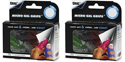 Lee Tippi Micro Gel Fingertip Grips - Size 7 Medium - 10 Pack (S61070), 2 Packs