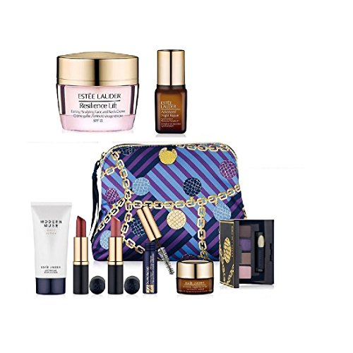 New Estee Lauder Fall 9pc Skincare Makeup Gift Set $165+ Val