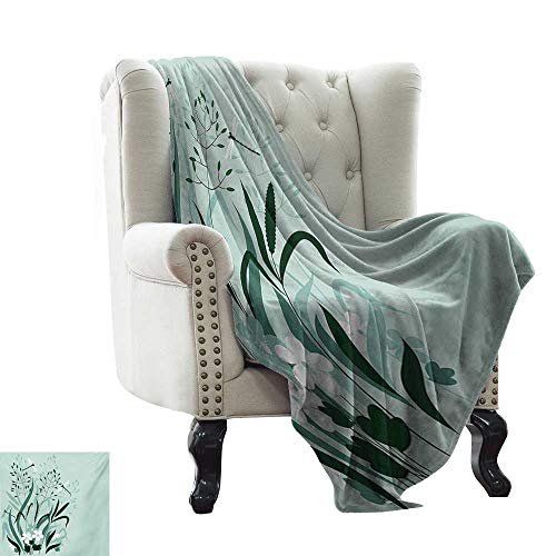 (Dragonfly,Custom Design Cozy Flannel Blanket,Wild Grass and Dragonflies in Exquisitely Growing Lawn Herb Bush Rural Pattern 60