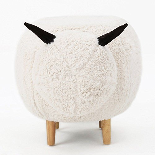 Best Selling Home Bromley Velvet Sheep Indoor Kids White Bench by Best Selling Home