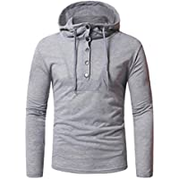 Clearance Sale! Wintialy Fashion Men's Autumn Fastener Long Sleeved Hoodie Sweatshirts Top Blouse