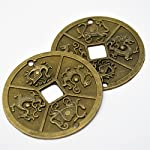 "1pcs Chinese Four Celestial Animals Coins Feng Shui I Ching Coins Dia:2.4"" + Gift Bag Y1003"