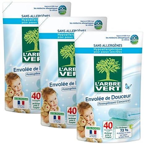 El árbol verde 27785 cuidado del ropa detergente recarga 40 ...