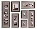 Antique Silver Leaf Massena Photo Collage Set Of 7 Wall Art 14458