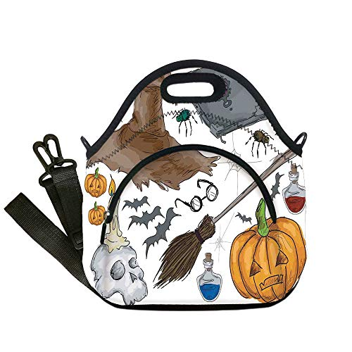 Insulated Lunch Bag,Neoprene Lunch Tote Bags,Halloween Decorations,Magic Spells