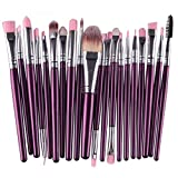 20 Piece Makeup Brushes Set Eye Shadow Eyebrow Cosmetic Make Up Tools Foundation Natural Beauty Palette Eyeshadow Great Popular Eyes Faced Colorful Rainbow Hair Highlights Glitter Travel Kit, Type-19