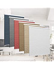 Allesin Cellular Honeycomb Blind Single Cell Pleated Shades Cordless Room Darkening Inside & Outside Mount for Windows