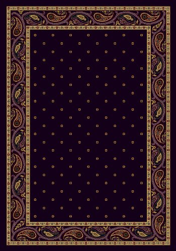 - Milliken 4000040140 Innovations Collection Paisley Rectangle Area Rug, 2'8