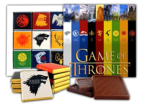 DA CHOCOLATE Souvenir Candy GAME OF THRONES Great Houses of Westeros Chocolate Gift Set Famous TV series design 5x5in 1 box (Castles Prime) ()