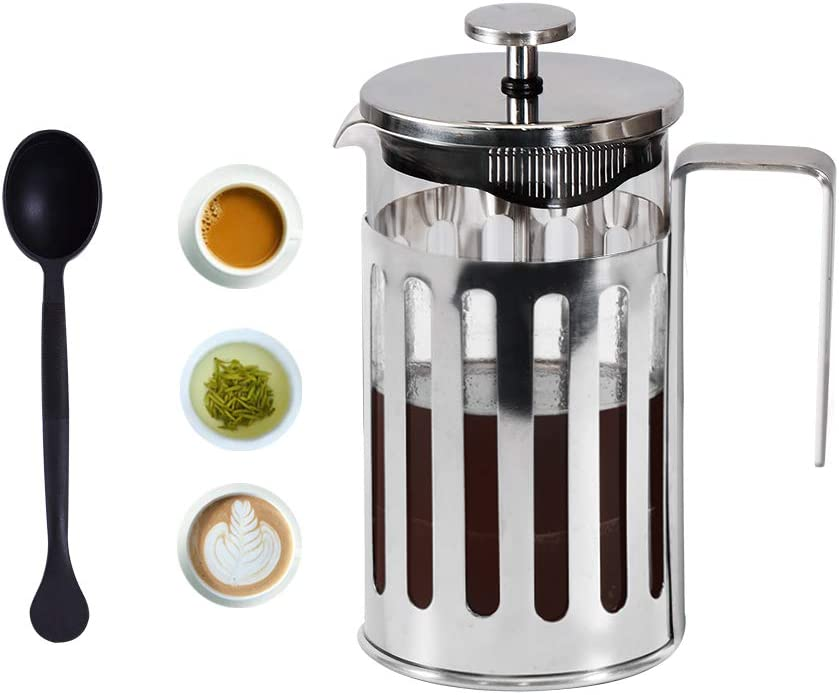French Press Coffee Maker 8 cup, 34 oz , 304 Grade Stainless Steel, BPA Free,Durable Easy Clean Coffee Pot Heat Resistant Borosilicate Glass