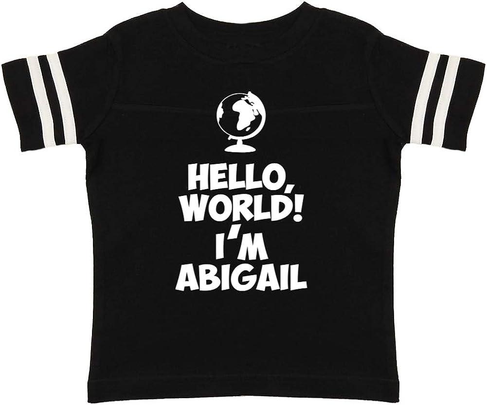 World Hello Im Nina Personalized Name Toddler//Kids Raglan T-Shirt