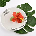 KUUQA-60-Pcs-Tropical-Party-Decoration-Supplies-8-Tropical-Palm-Monstera-Leaves-Hibiscus-Flowers-Simulation-Leaf-Hawaiian-Luau-Party-Jungle-Beach-Theme-Table-Decorations