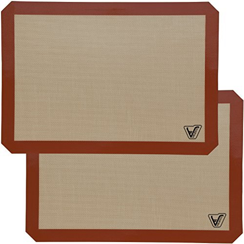 Silicone Baking Mat - Set of 2 Half Sheet (Thick & Large 11 5/8