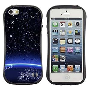 Be-Star Impreso Colorido Diseño Antichoque Caso Del iFace Primera Clase Tpu Carcasa Funda Case Cubierta Par Apple iPhone 5 / iPhone 5S ( Space Earth Planet Start )