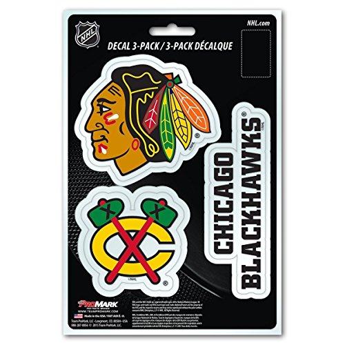 NHL Chicago Blackhawks Team Decal, 3-Pack -