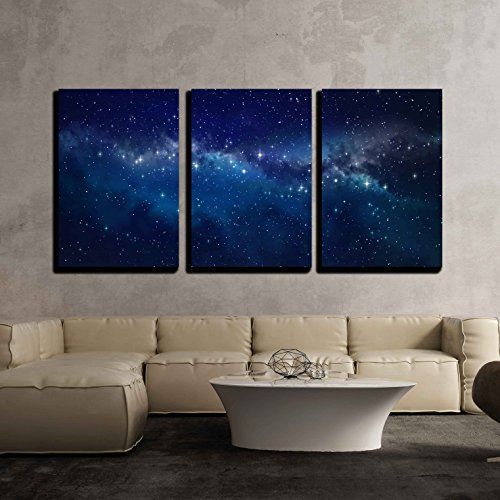 Deep Space High Definition Star Field Background x3 Panels