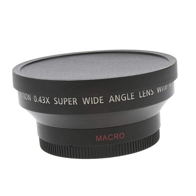 Makro-Konverter Objektiv f/ür Kameras und Camcorder F Fityle 62mm 0.43x Weitwinkel