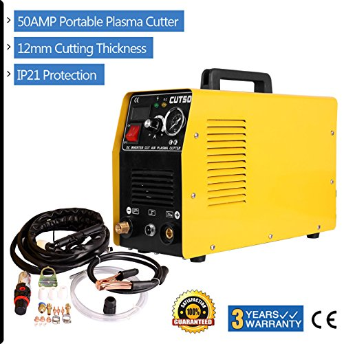 Iglobalbuy No noise Air Inverter Plasma Cutter with Electric Digital Display Pressure Gauge 220V 10-50A