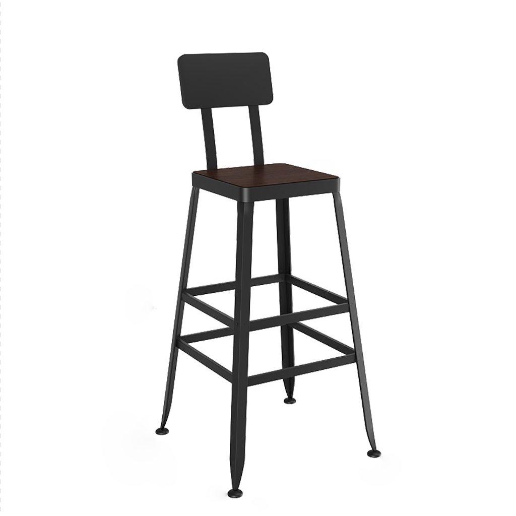 バースツール、鉄ソリッドウッドスツール、スクエア、キッチン朝食椅子、65cm * 40cm * 30cm ( Size : 80cm ) B07CPMFJ5K 80cm 80cm