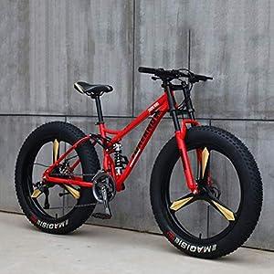 51MkfSor9wL. SS300 Hmcozy Sport Ciclismo Bicicletta velocità off Road Beach Mountain Bike per Adulti Super Wide Pneumatici Uomini e Donne in Bicicletta Studenti,A,21 Speed