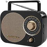 Studebaker Portable AM/FM Radio, Black