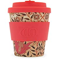 Limited Edition 8oz 250ml William Morris Environmentally Friendly Reusable Coffee Cups, Made with Natural Bamboo Fibre, Various Colours