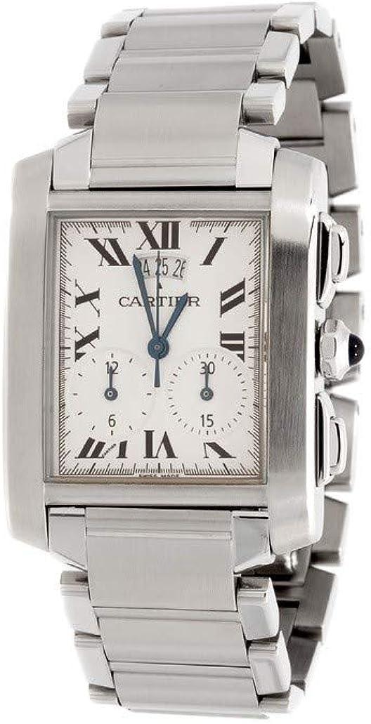 Cartier Tank Francaise Swiss-Quartz 2653 - Reloj de cuarzo para mujer (certificado de autenticidad)