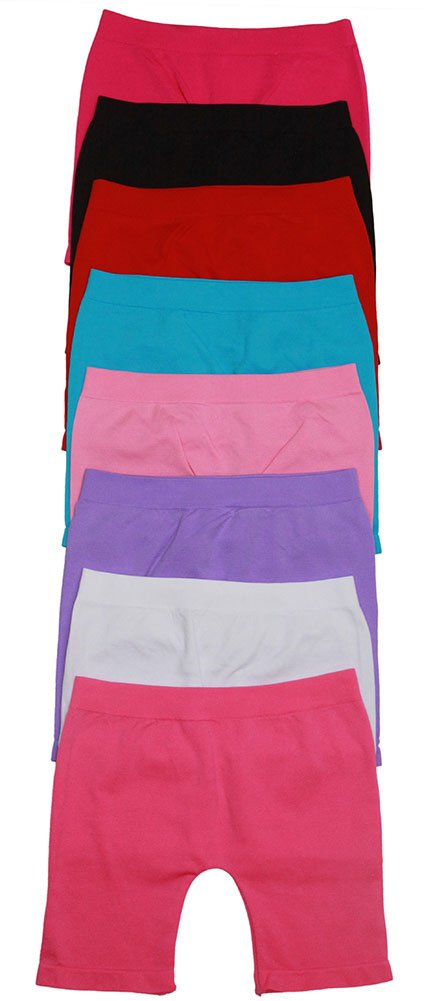 ToBeInStyle Pack of 6 Girls' Tights - Short - Solid Color Size: Small
