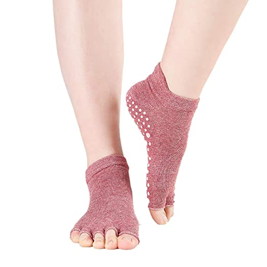 Kanggest.Calcetines Antideslizantes para Yoga Pilates Ballet ...