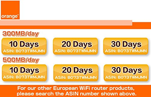 Orange SIM Card 4G/LTE Europe Mobile WiFi Hotspot Rentals 500mb/day (Total 15GB) - 30 Days by VISION GLOBAL WiFi (Image #4)
